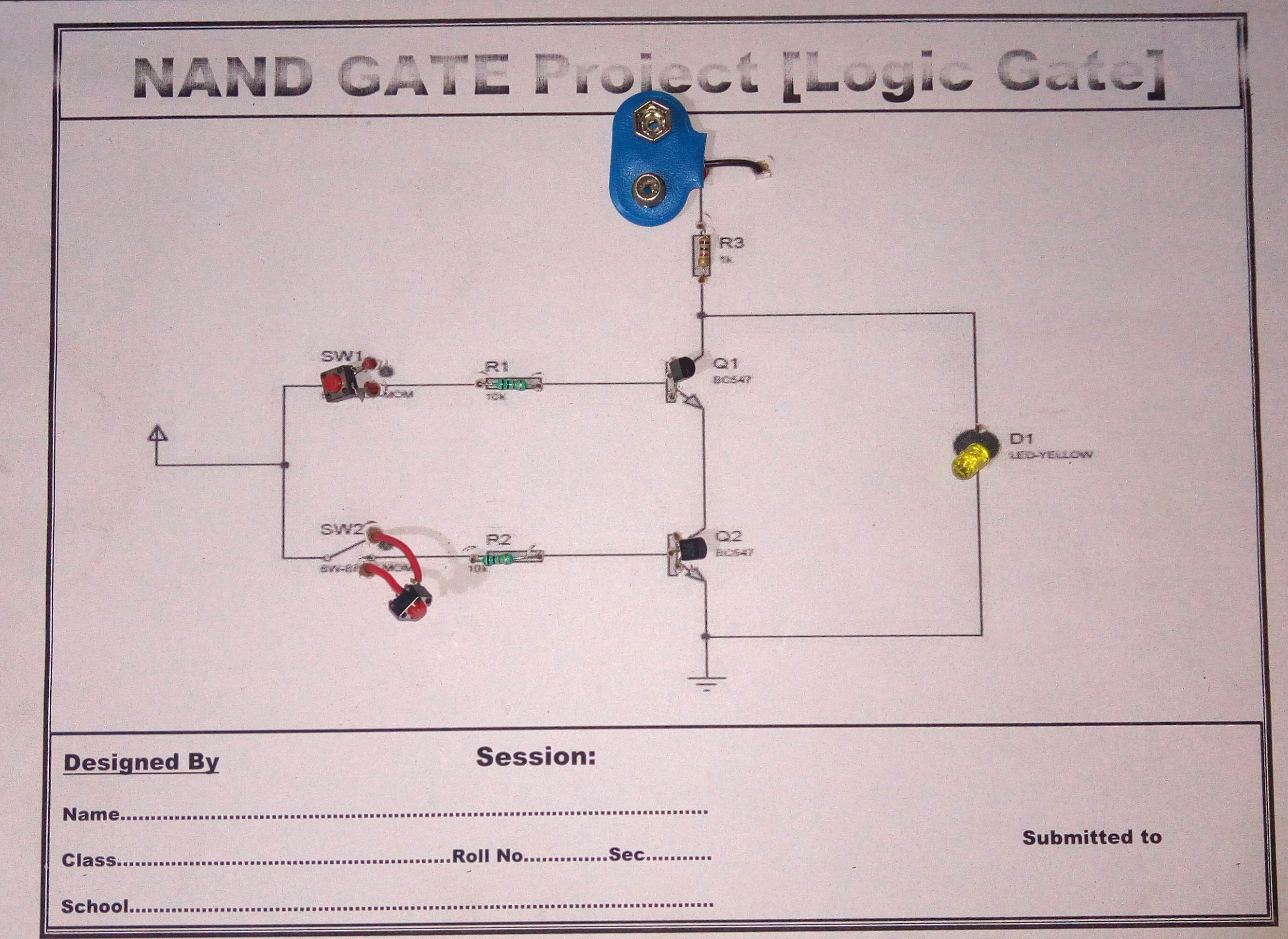 how to make nand gate 3